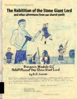 Habitation of the Stone Giant Lord and Other Adventures from Our Shared Youth, The