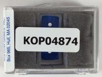 16mm Dark Blue Transparent d6 Backgammon Dice w/White Pips (2)
