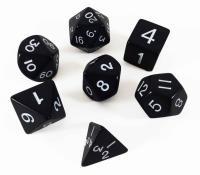 Poly Set Black w/Cube (7)