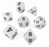 Poly Set White w/Cube (7)