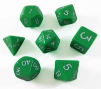 Poly Set Green w/Cube (7)