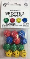 d12 Spotted 1-6 Dice (12)