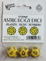 d12 Astrological Dice - Yellow (3)