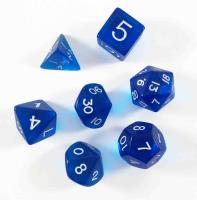 Blue Polyhedral Dice Set w/Bag (7)