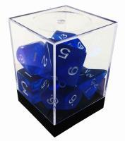 Blue Polyhedral Dice Set w/Cube (7)