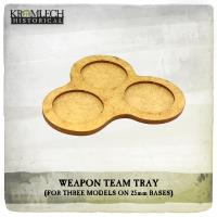 Weapon Tray Team Tray - 3 Models, 25mm Round Bases