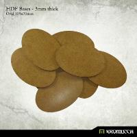 105x70mm Oval Bases - 3mm HDF