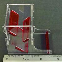 Mini Dice Tower - Translucent Red