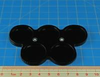 5 Figure 25mm Circle Display Tray - Black