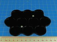 10 Figure 25mm Circle Display Tray - Black