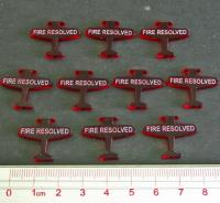 Axis & Allies - Angels 20, Fire Resolved Tokens