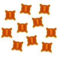 1 Damage Tokens - Fluorescent Orange