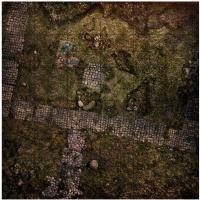 "36"" x 36"" Playmat - Deploy Zone/Grid 1 Dark Island"