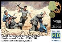 Soviet Marines and German Infantry, Hand-to-Hand Combat - 1941-42