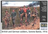 British & German Soldiers - Somme Battle 1916