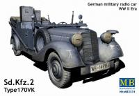 Sd.Kfz.2 Type 170VK German Military Radio Car w/Passenger Figure Set