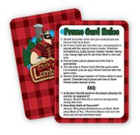 Click Clack Lumberjack Promo Cards