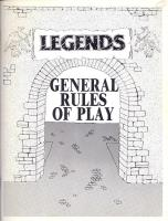 Legends - General Rules of Play