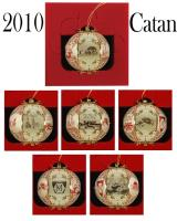 2010 Cut Brass Catan Ornament - Brick