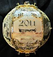 2011 Cut Brass Catan Ornament - Wood