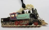 2011 Cut Brass Train Ornament - 2-4-2 Locomotive