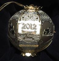 2012 Cut Brass Catan Ornament - Sheep