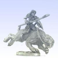 Sabre Tooth Rider w/Spear #1