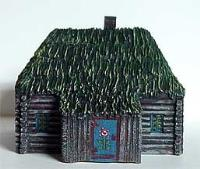 Eastern Europe - Medium Log House w/Outbuilding