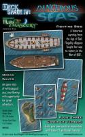 Poster Map #26 - Deck Space #4, Dangerous Seas - Fighting Brig/Ocean Waves