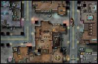 10th Anniversary Double-Sided Map - Marooned Starship/Outlaw City