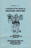 Selection of New Books on Military History, A