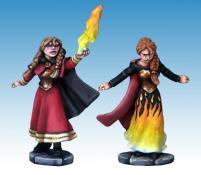 Female Elementalist Wizard & Apprentice
