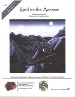 Raid on the Acaeum (North Texas RPG Con Tournament Edition)