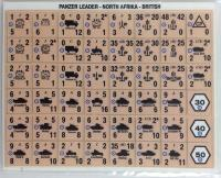 Panzer Leader/Blitz - North Afrika British Counters w/Bulls Eye