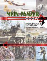 Mein Panzer - World War II Data Book