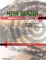 Mein Panzer - World War I Data Book