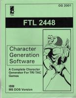 Character Generation Software
