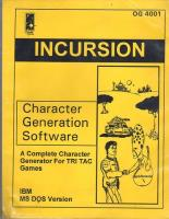 Incursion Character Generation Software