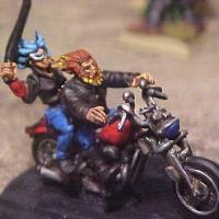 Demon Biker & Succubus - On Bike and on Foot