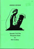 Arriba Espana! - Spanish Civil War Wargames Rules