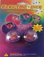 Clear Purple ElectroDice Set (2 d6)