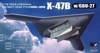 U.S. Navy X-47B w/GBU-27 (Guided Bomb Unit - Air-to-Surface Glide Bomb) (1:72)