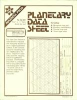 Planetary Data Sheet