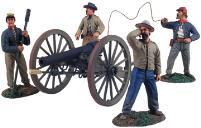 Confederate Artillery Firing