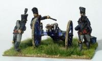 Prussian Foot Artillery Firing