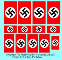 15mm Decal Set - DAK Deutsches Afrika Korps Air Recognition