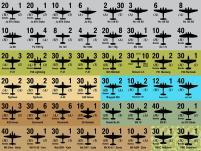 Panzer Leader/Blitz - Aircraft Counters