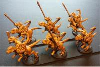 Cavalry Spears and Shields on Unarmored Chameliex (Half-Pack)