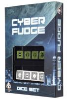 Cyber Fudge Dice - Green & White (8)