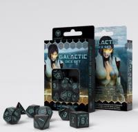 Galactic Dice Set - Black w/Blue (7)